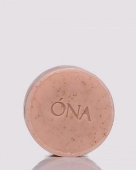 Мило-скраб з рожевою глиною ТМ ÓNA, PINK CLAY SOAP & SCRUB