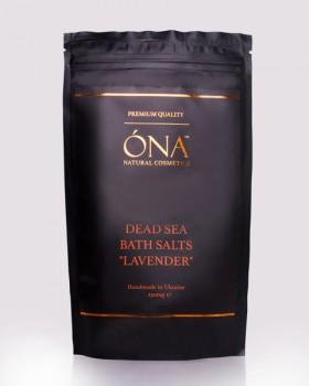 """Натуральна сіль для ванн з лавандовою олією ТМ ÓNA, DEAD SEA BATH SALTS """"LAVENDER"""""""