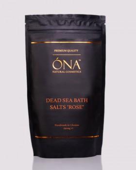 """Натуральна сіль для ванн з трояндовою олією ТМ ÓNA, DEAD SEA BATH SALTS """"ROSE"""""""