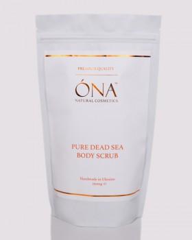 Натуральний скраб для тіла з сіллю Мертвого моря ТМ ÓNA, PURE DEAD SEA BODY SCRUB