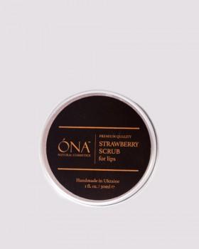 Суничний скраб для губ ТМ ÓNA, STRAWBERRY Lip Scrub