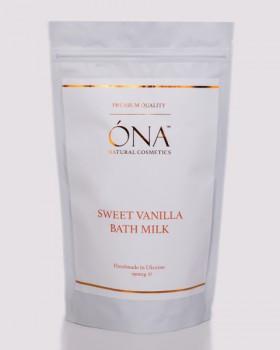 Ванільне молоко для ванн ТМ ÓNA, SWEET VANILLA Bath Milk